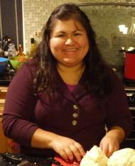 Enjoying time cooking at parent's house in Baja California